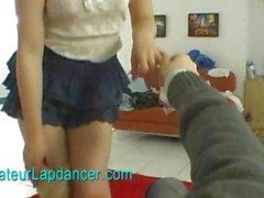 Amateur russian beauty lapdances for horny guy