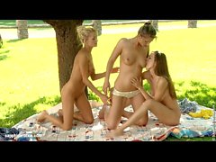 Summer Threesome by Sapphic Erotica - sensual lesbian sex scene with Juliette an