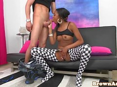 Brownass babe pussylicked before doggystyled