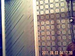 Hidden cam finally caught my mom nude in bath room