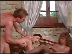 Classic porn with this group of horny people eating and fucking