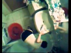 Hidden cam shower vids amaing teen at shower