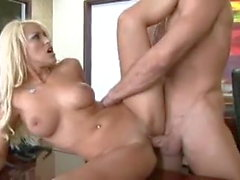 Sexy blonde gets a cock load
