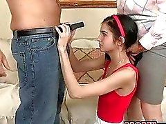RayVeness shows teen how to deepthroat