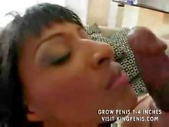 Ebony monster cock packing, Lexington Steele, sticks it in a black chick
