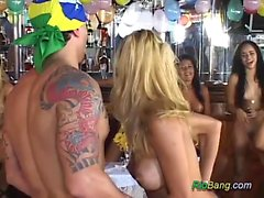 Orgy with hot brazilian dolls