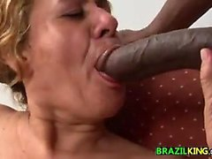 Fat Grandma From Brazil Rides The Cock