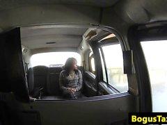 Asslicking ebony fucks cabbie to pay her fare