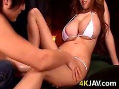 Busty Japanese Babe Pounded
