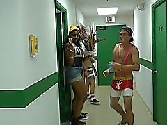 Sensational dorm fuckfest with hunks and hotties