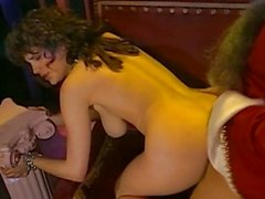 Pretty naked bitch with a nice ass being fucked by Ron Jeremy