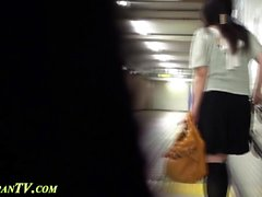 Kinky japanese slut pees