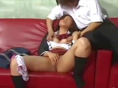 Asian Chick Rubs Her Pussy