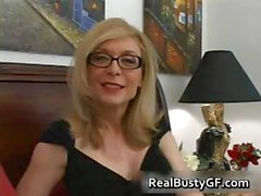 Blonde mom in glasses licking stiff part4