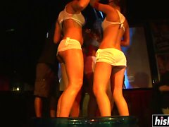 Lovely girls reveal their hot bodies