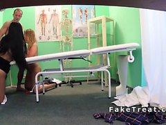 Doctor fucks sexy nurse and patient