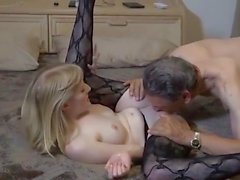 Oldman and blonde