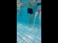 nice young couple underwater