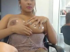 Perfect boobs GF gives a blowjob