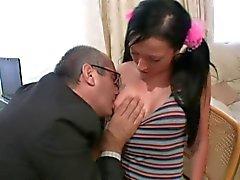 Gubben samt ung flicka - den 25