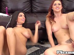 Livechat gals Karlie Montana and Darcie Dolce