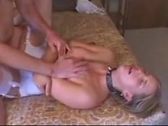 Leashed and used slut