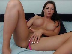 Katie Kay in a solo masturbation