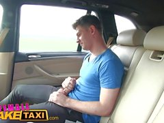 FemaleFakeTaxi Horny blonde taxi driver loves young guy's cock