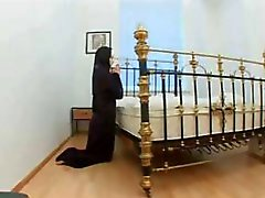 Nun prays for hard cock and her prayers are answered and she gets fucked