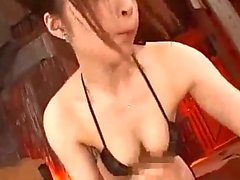 Busty Girl Riding On Guy Fucked Cum To Belly On The Airbed In The Bathroom