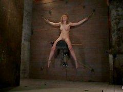Lily LaBeau riding a sybian