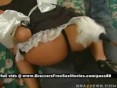 Hot blonde maid in bed