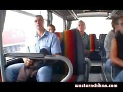 groped blonde in bus triler 1