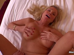 Hot Mature Blonde MILF Fucks Younger Cock POV