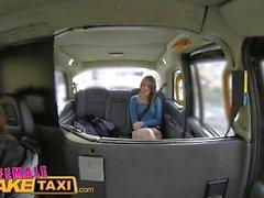 FemaleFakeTaxi British Spanish Lesbian Pussy Licking Taxi Fun