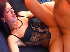 Laura fisting and puts on a huge dildo in the ass