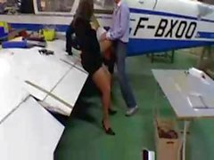 French Teens Fucked During Hangar Tour