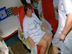 Dirty old woman gets horny getting her part2