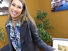 Realtor babe fucks to celebrate first sale