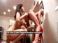 Nichol and Ayane lesbo babes fingering