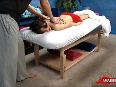 Brunette teen hardcore with massage