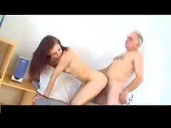 Old Man 68 yo fucks cute Redhead Teen