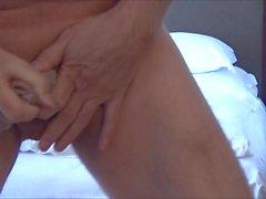 Pervert Ulf Larsen flashing & peeing!