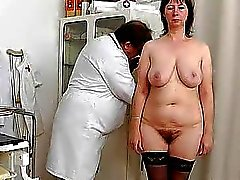 Spikylooking housewife getting a gyno