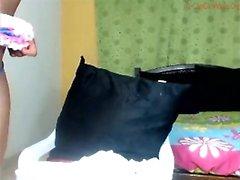 Große Brüste Ebony Big Booty liebäugelt auf Webcam