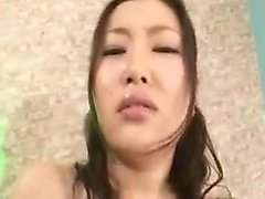Big breasted Japanese hottie gets tied up and pleased with