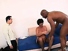 White wife pussy pounded by black dick