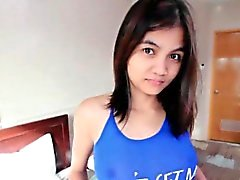 Милый филипина Неряха сосет штанга