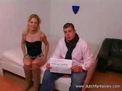 Horny blonde chick is ready for her spanking and hardcore fuck