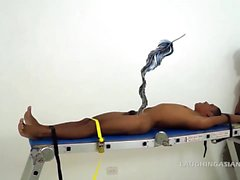 Asian Twink Javey Tied Down and Tickled